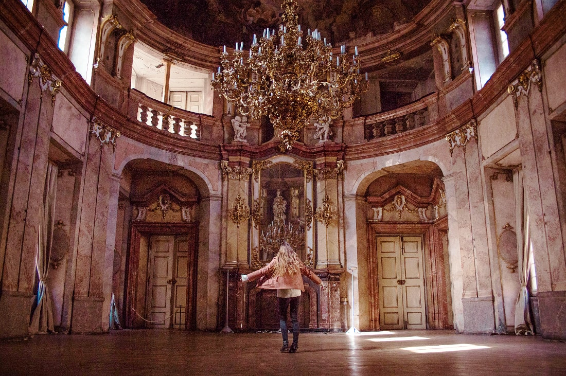 The dance hall of the Colloredo-Mansfeld Palace