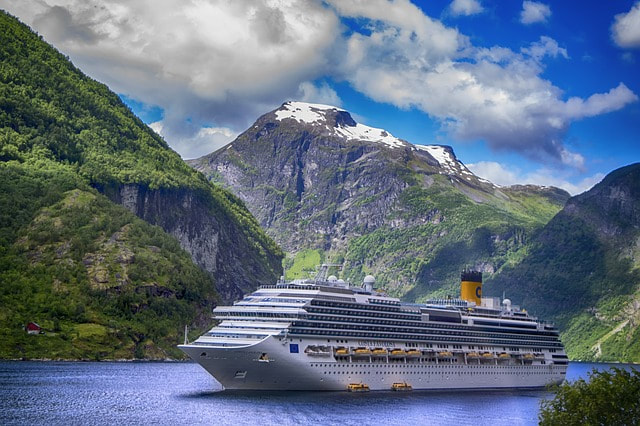 Norway Fjord and Ship