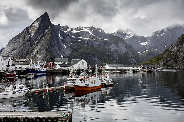 Norwegian Fjord and Boats